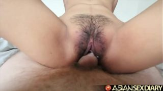 Asian Sex Diary – Young Filipina cutie gets her hairy pussy fucked